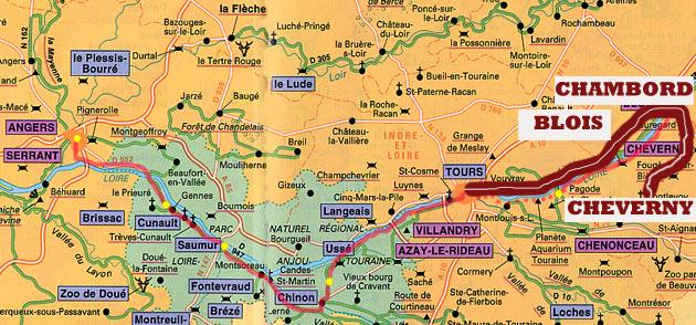Castillos Del Loira Mapa.Loira