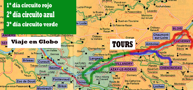 Castillos Del Loira Mapa.Valle Loira
